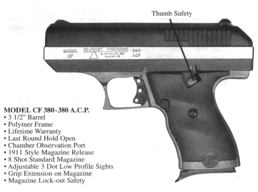 Hi-Point Instruction Sheet for C9-9mm and CF 380-380 A C P